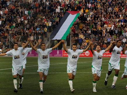 נבחרת פלסטין בכדורגל. סכנת חיים? (צילום: AP)
