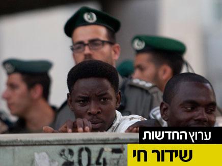 הפגנה נגד הזרים בדרום תל אביב (צילום: חדשות 2)