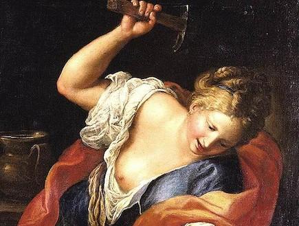 יעל הורגת את סיסרא- ציור של גרגוריו לזריני
