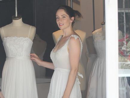 טלי שרון בשמלת כלה, יוני 2012 (צילום: ראובן שניידר )