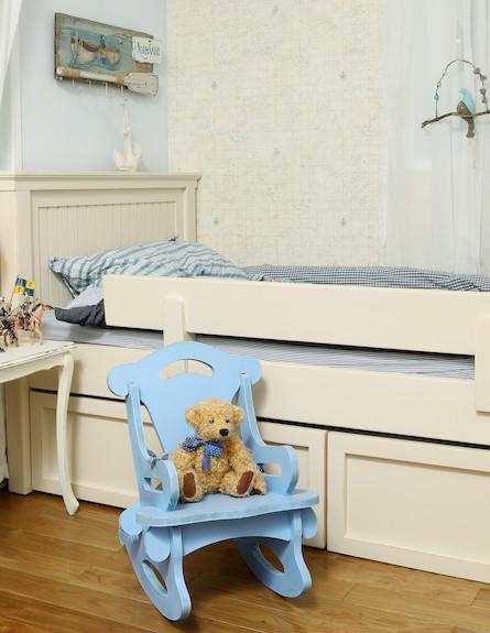 מיטה בחדר ילדים (צילום: עודד קרני, living)