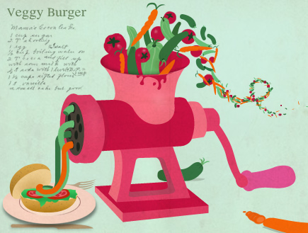 המבורגר צמחוני - איור