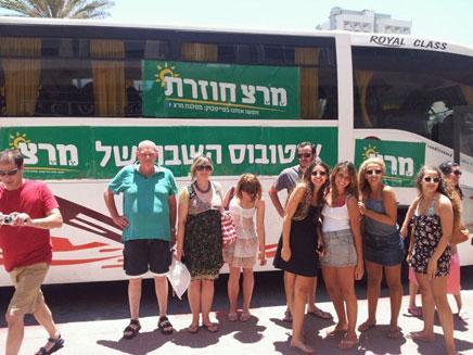 מאות נסעו בקו אוטובוס מיוחד בשבת (צילום: עילאי הרסגור- הנדין)