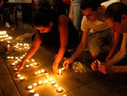 שנה לרצח בברנוער (צילום: חדשות 2)
