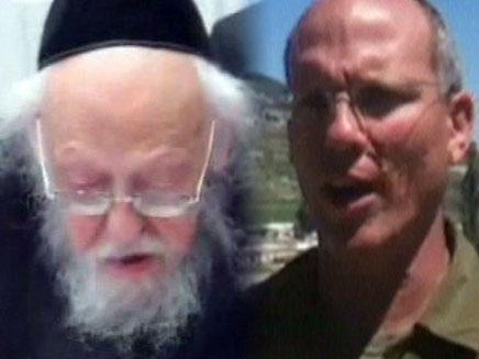 ניצן אלון והרב אלישיב (צילום: חדשות 2)
