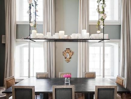 חדר אוכל בדירה בניו יורק (צילום: מתוך: ONEFINESTAY.COM)