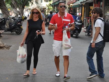קובי פרץ מטייל עם המשפחה פפראצי (צילום: צ'ינו פפראצי)