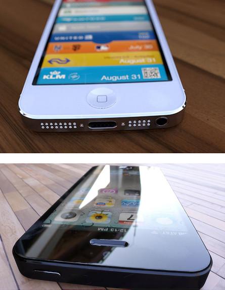 קונספט של אייפון 5 שחור ולבן