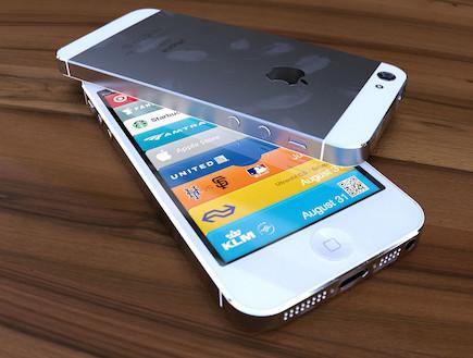 קונספט של אייפון 5 לבן