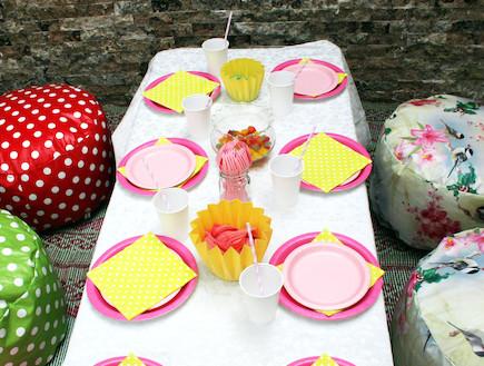 שולחן מעוצב ליום הולדת