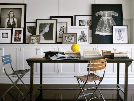 תמונות על מדף (צילום: מתוך האתר: architecturaldigest.com)