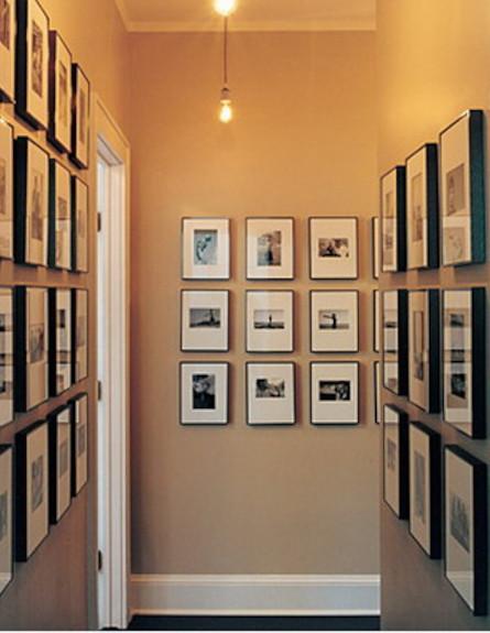 תמונות משפחתיות במסדרון (צילום: צילום מתוך האתר:marthastewart.)