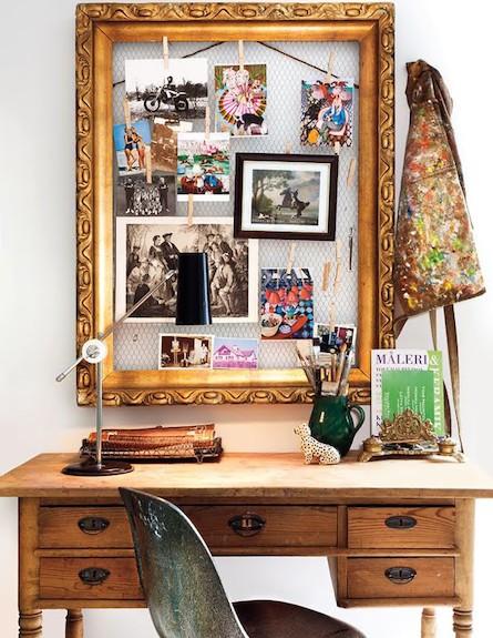 תמונות בחדר עבודה (צילום: מתוך האתר: littlebitsoflovely.blogspot.com)