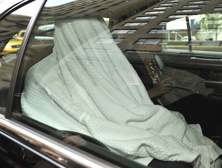 אלק בולדווין מסתתר (צילום: noon)