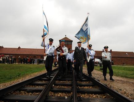 """מצעד החיים בפולין (צילום: דובר צה""""ל, באדיבות גרעיני החיילים)"""
