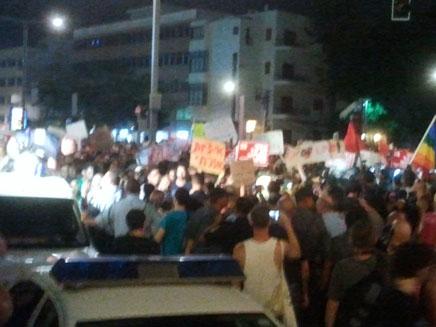 פעילי המחאה החברתית מפגינים ברוטשילד (צילום: חדשות 2)