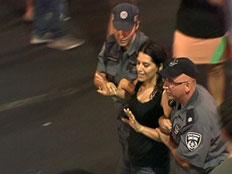 מחאה חברתית אלימה (צילום: חדשות 2)