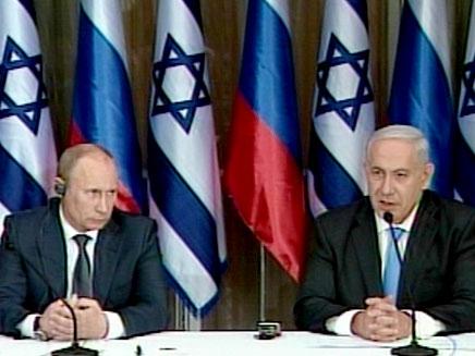 """פוטין מבקר בבית רה""""מ (צילום: חדשות 2)"""