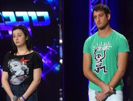 עופר נווה ואניטה גסין במבחן הדואט (תמונת AVI: mako)
