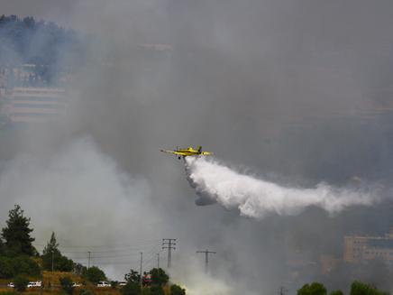 שריפת הענק בהרי ירושלים, ארכיון (צילום: מיכל שאלק, גולשת חדשות 2)