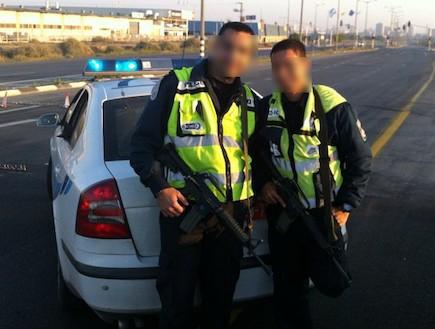 שוטרים במשטרת ישראל (צילום: שי לוי)