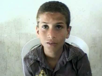 ילד שקיבל בעיטה בחברון (צילום: חדשות 2)