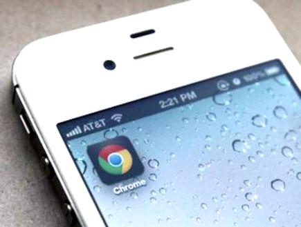 גוגל כרום באייפון (צילום: אילוסטרציה)