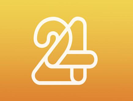 לוגו 24 (צילום: mako)