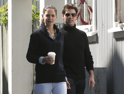 טום קרוז וקייטי הולמס פפראצי אחרון (צילום: splashnews, noon)