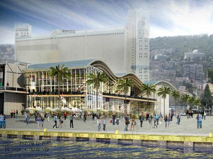 הדמיה של איזור הנמל החדש , חיפה (צילום: הדמייה: משרד אדריכלים עמי שנער – אמיר מן)