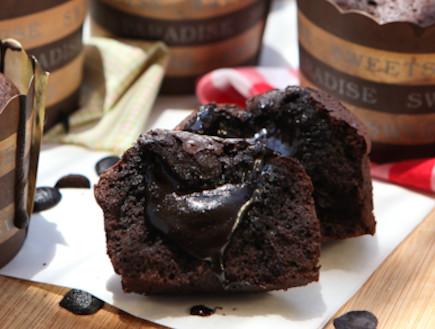 עוגת שוקולד חמה (צילום: בני גם זו לטובה, אוכל טוב)