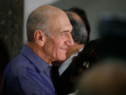 """אהוד אולמרט בביהמ""""ש (צילום: חדשות 2)"""