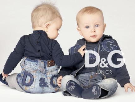 דולצ'ה וגבאנה - פרסומת לליין התינוקות (צילום: MailOnline)