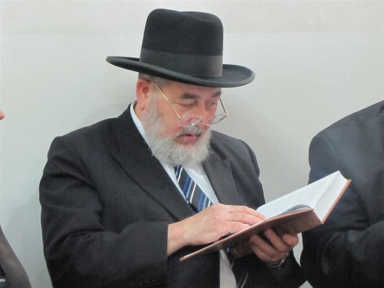 """הרב אליהו אברז'ל, תצלום: שמואל אלבז, סוכנות """"24"""""""