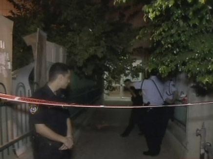 זירת הרצח בלוד, הלילה (צילום: חדשות 2)