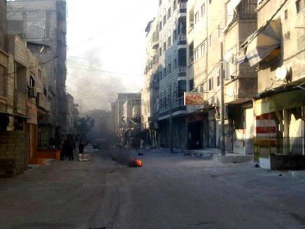 דמשק עדיין מופגזת. ארכיון (צילום: רויטרס)