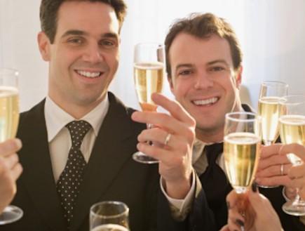 זוג גייז בחתונה (צילום: אימג'בנק / Thinkstock)