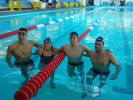 נבחרת ישראל בשחייה לקראת המשחקים האולימפיים (צילום: חדשות 2)