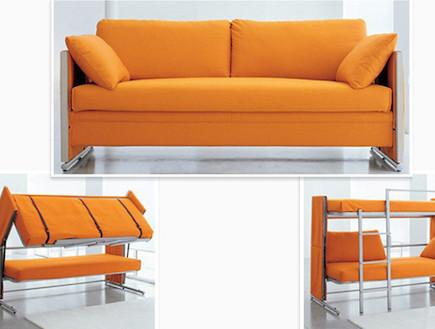 מיטת שנפתחת למיטת קומותיים (צילום: מתוך: dornob.com)