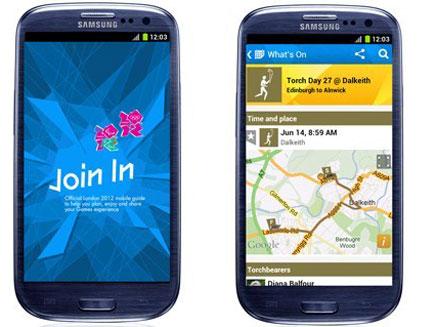 לונדון 2012 גם בסמארטפון