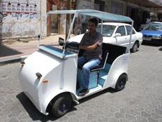 רכב לבן - ירוק, המכונית החשמלית (צילום: חדשות 2)