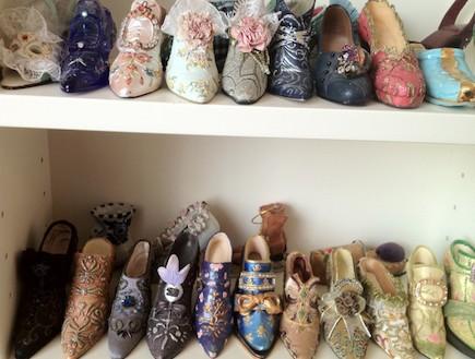 אוסף הנעליים המיניאטוריות של מיכל רכבי (צילום: צילום ביתי)