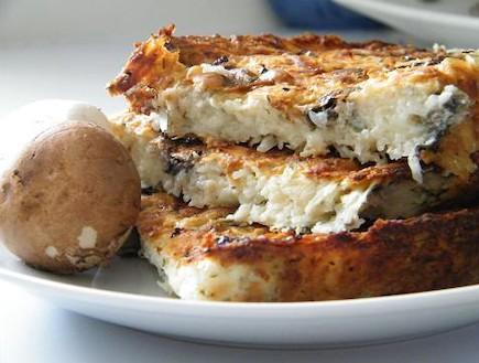 פשטידת תפוחי אדמה ופטריות (צילום: פיית המשאלות25, מטבחה של פייה)
