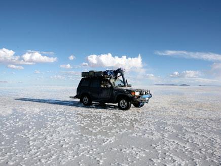 מדבר המלח בבוליביה. תאונה קטלנית (צילום: AP)