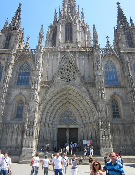 הקתדרלה, הרובע הגותי, ברצלונה (צילום: אסי עזר)