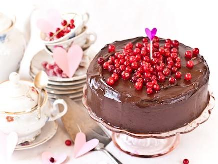 עוגת שוקולד עם ריבת פטל (צילום: ליטל ארזי, השף הלבן, תנובה)
