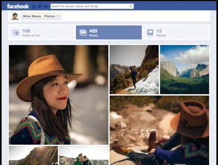 פייסבוק משנה את תצוגת התמונות (צילום:  Photo by Flash90)