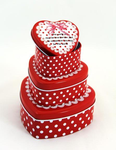 שלישיית לבבות גדול בינוני קטן (צילום: מתוך האתר www.mor-pack.co.il)