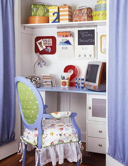 טיפים לסביבת לימודים בחדר ילדים (צילום: מתוך האתר: bhg.com)