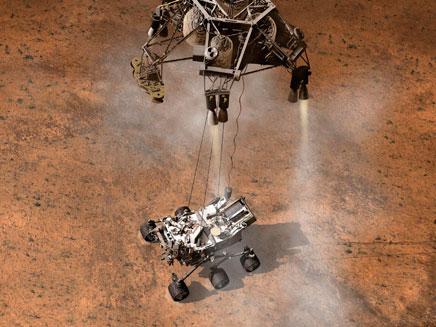 """רכב """"הסקרנות"""" למאדים (צילום: רויטרס)"""